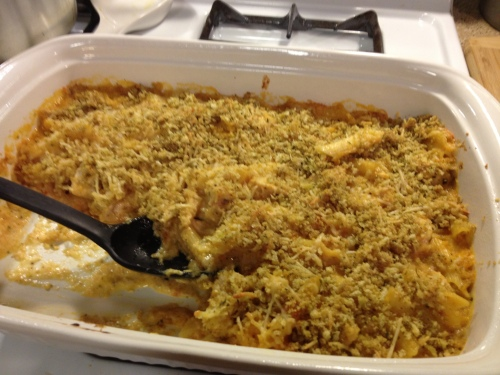 penne mac & cheese with chicken