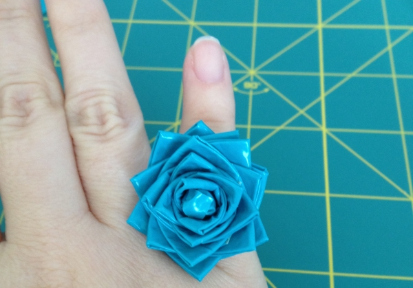 duct tape flower ring