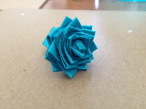 duct tape flower ring close up
