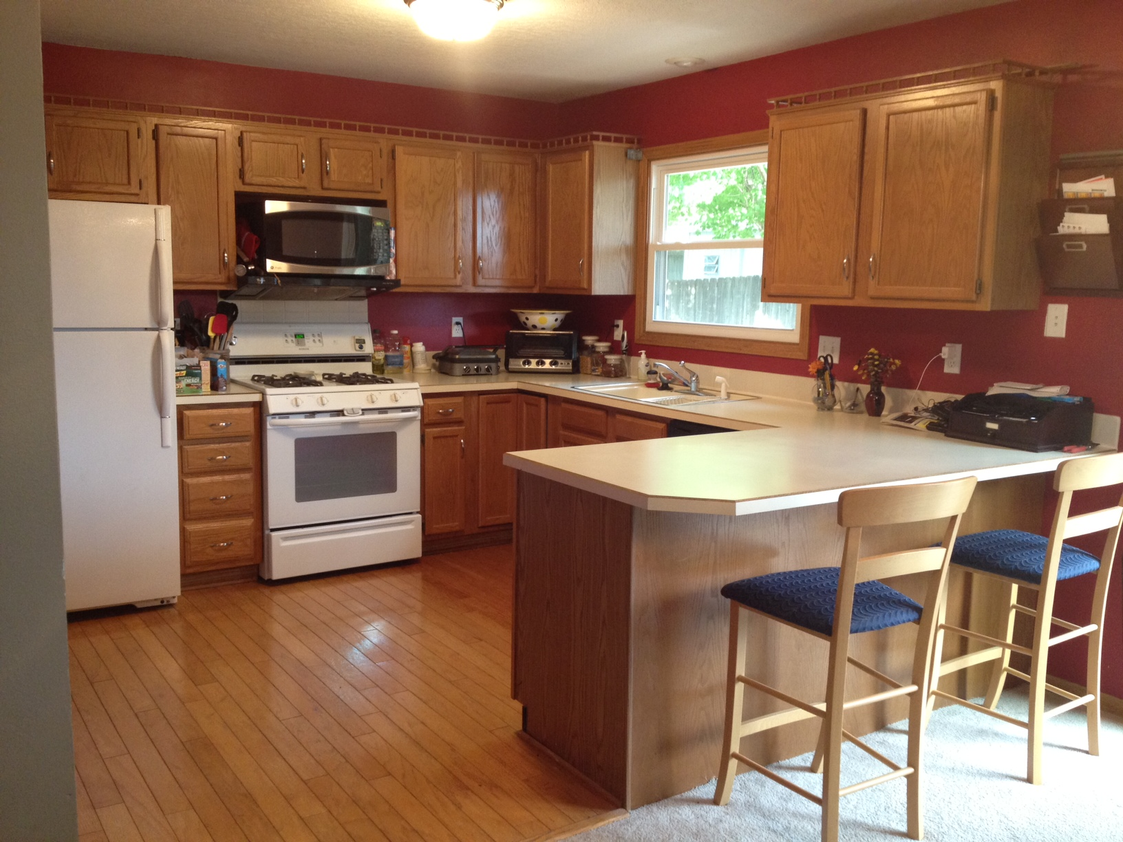 Kitchens With Brown Cabinets. Painting Kitchen Cabinets   Before Picture  Kitchens With Brown 6