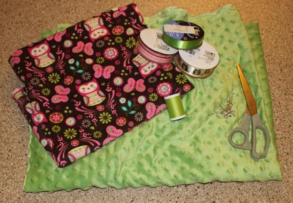 Tag blanket tutorial supplies