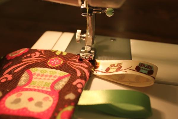Tag blanket tutorial top stitch