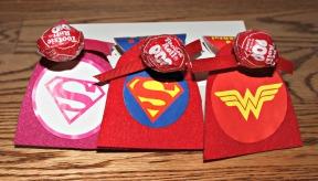 Super Hero Valentine Suckers