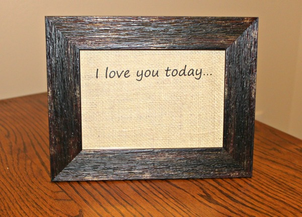 dry erase love message frame