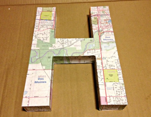 map covered letter wrapped