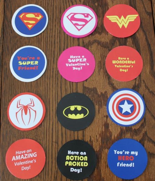Super hero valentine cutouts