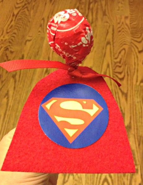 Superman Valentine Sucker