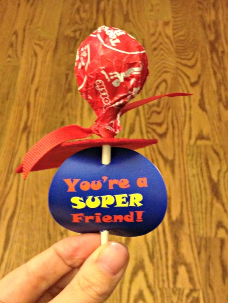 Superman Valentine Sucker