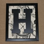 Framed Monogram Letter