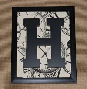 Framed Monogram Letter