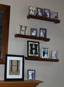 Framed monogram letters