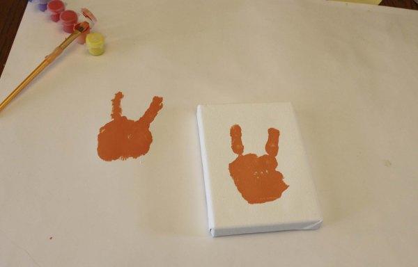 Hand Print Easter Bunny - hand print