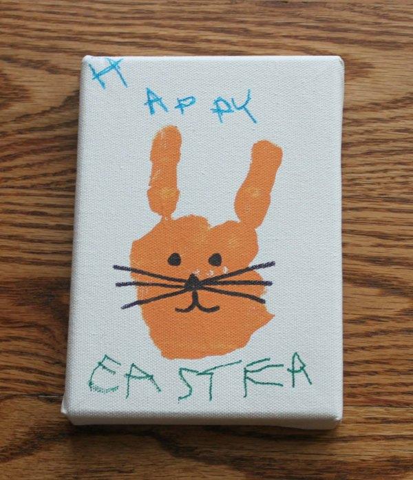 Hand Print Easter Bunny