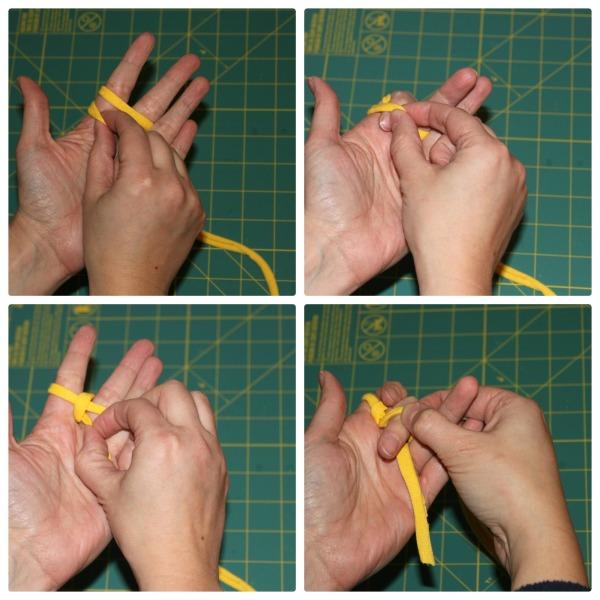 t-shirt bracelet - weaving 2