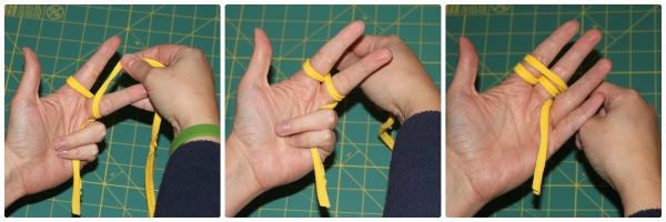 t-shirt-bracelet - weaving