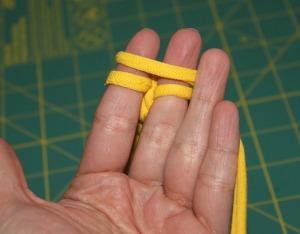 t-shirt bracelet - top fingers