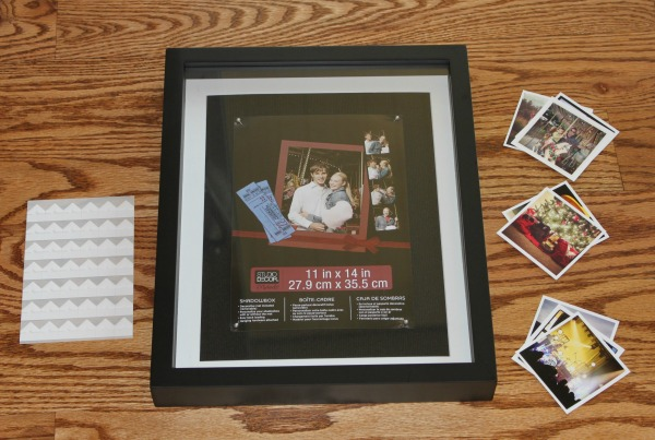 Shadow Box Framed Instagram Photos - supplies