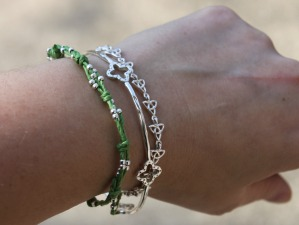 Bead and Knot Cord Bracelet