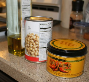 Roasted Chickpeas - ingredients