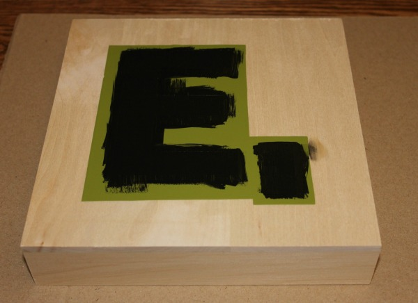 Monogram Scrabble Tile - Paint