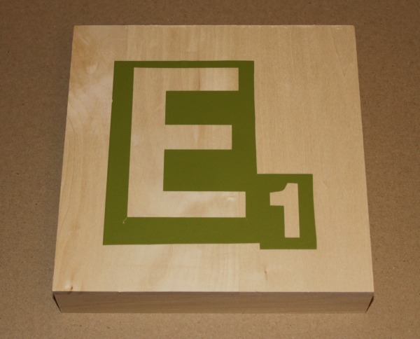 Monogram Scrabble Tile - Stencil