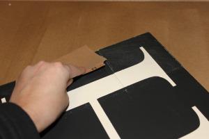 Wood Tile Letter -sanding