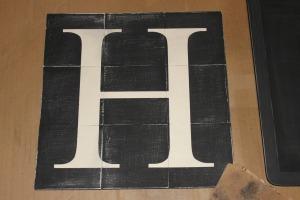 Wood Tile Letter - sanded