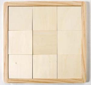 Wood tile board