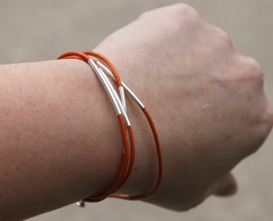 DIY Tube Wrap Bracelet