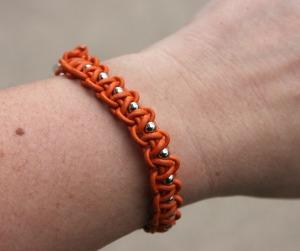 Macrame Knot & Bead Bracelet